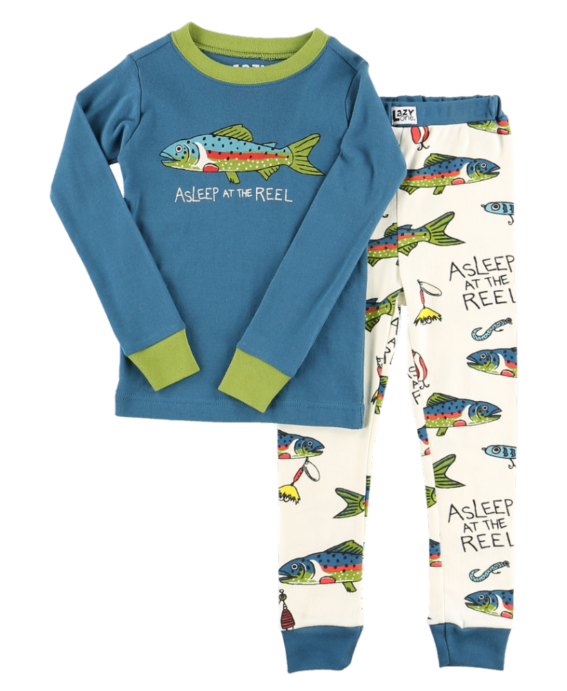 Asleep at The Reel - Kids Long Sleeve PJ Set - Lazy One®